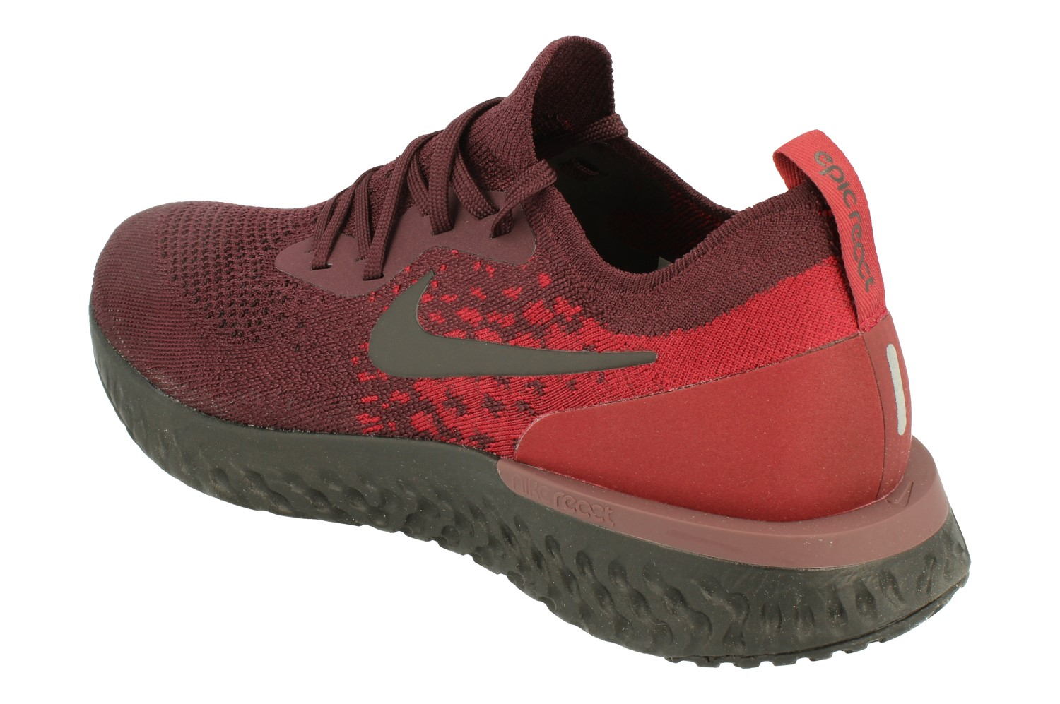 ec90d2a386fa7 Nike Epic React Flyknit Mens Running Trainers At0054(Deep Burgundy ...