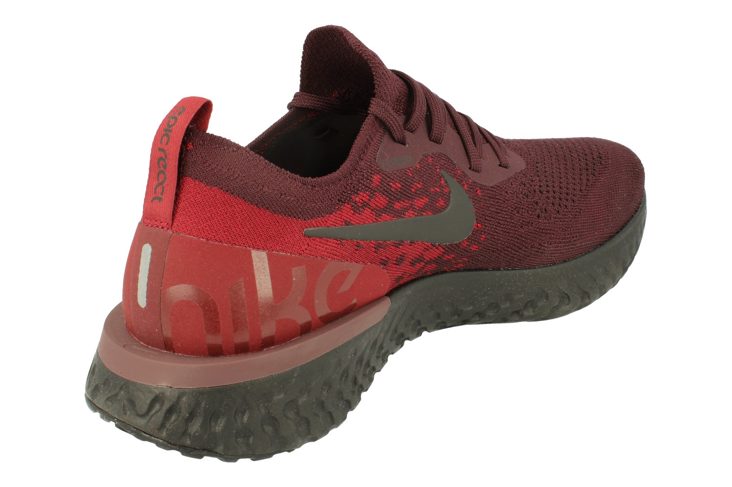 54ff907c9baa Nike Epic React Flyknit Mens Running Trainers At0054(Deep Burgundy ...